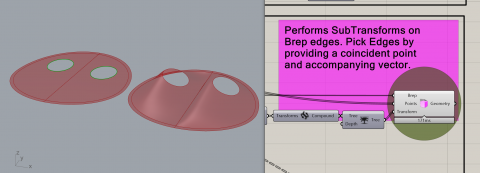 Pigletto contains extended topological methods, the ability to perform subtransforms on Breps, and general purpose Rhino and Grasshopper utilities.