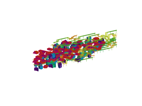Implementation of the Wave Function Collapse that fills the entire envelope with discrete Modules respecting the adjacency Rules.