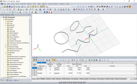 A very simple Grasshopper plugin that allows generating nodes, lines and surfaces in Dlubal RFEM, based on Rhino geometry.
