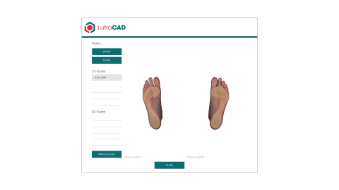 <p>LutraCAD is easy and intuitive software for designing insoles and orthotics based on 2D and 3D scans. Free trial possible!</p>