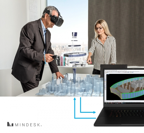 Website www.mindeskvr.com  Mindesk is the first and most advanced Virtual Reality interface for Rhino 6.