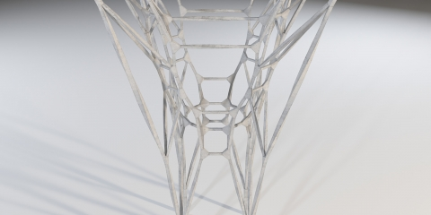 3D Graphic Statics is a structural form-finding method for generating compression-only funicular structures.