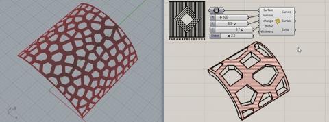 easily produce Voronoi cells on any NURBS surface