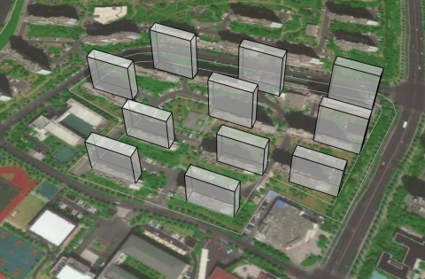 Spheniscidae is a GH Plugin for automatic generation of residential buildings according to site boundaries and indexes such as FAR, D, Height.