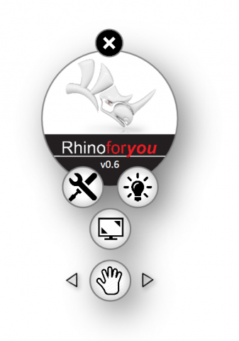 """Smart Menu for Rhino is a customizable, productive and """"easy-to-learn"""" GUI tool for Rhino to facilitate the way to work with Rhino"""