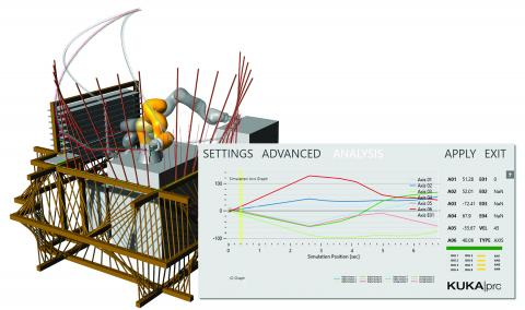 KUKA|prc enables you to program and simulate industrial robots directly out of a parametric modelling environment.