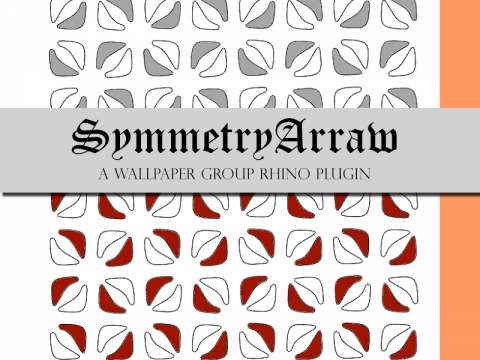 A Wallpaper-group Symmetry Array Tool For Rhino