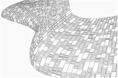 SkinDesigner enables the rapid generation of facade geometries from building massing surfaces and repeating, user-defined panels.