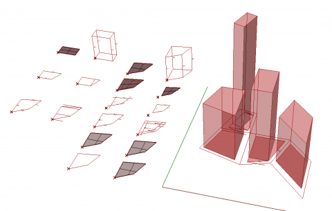 The SortalGI shape grammar interpreter supports the specification and application of parametric and non-parametric shape rules.