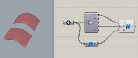 With this new component you can define the degree when you create a surface from a grid of points.