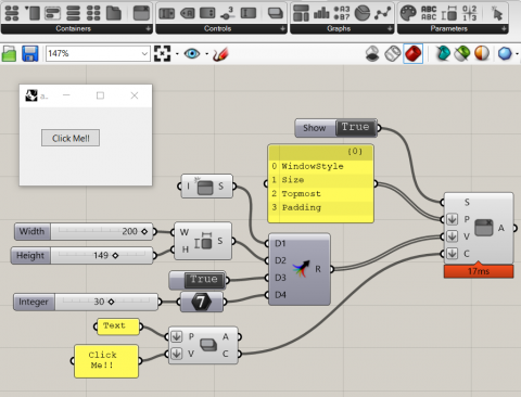 Graphic user interface tools powered by cross-platform Eto.Forms