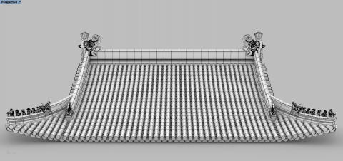 Automatically laying tiles on the roof of the Chinese Traditional Architecture, based on the profile curves.