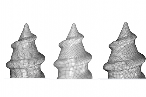 XirusCAD RE provides a powerful toolset to convert volumetric point clouds or meshes into smooth NURBS surfaces.