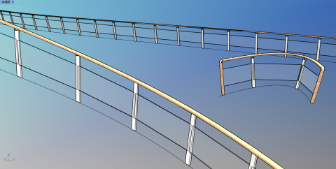 A railing that can be beveled!