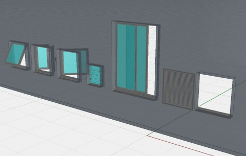 6 windows style. Good detail level and setting possibility. Note: No issue problems, seems to work well.