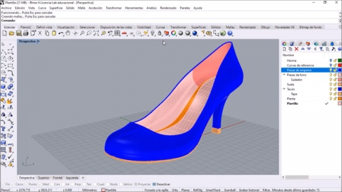 Aprende a diseñar calzado 3D, desde el diseño de una horma y sin necesidad de tener conocimientos previos gracias a la ayuda de tutores especializados
