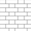 Flemish Bond Brickwork (no joints)