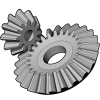 RhinoGears is a plugin that can be used to generate custom gears, including involute gears, racks, bevel gears and helical gears.