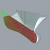 These scripts make it possible to generate a fair ship hull in little time. The scripts also provide a real time linesplan and some hydrostatics.