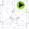 Grasshopper Player definition for automatic dimensioning of polygons (closed planar curve with straight sides).