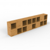 Bookshelf made with boxes