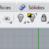 Modern Rhino 6 toolbar