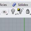 Modern Rhino 7 toolbar