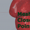 Algorithm to compute the closest point on a mesh from a given query point