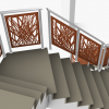 Railing with cutting parametric sheet motifs among others ...