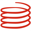 Only a single component for generating a helix or a Spiral in Grasshopper.