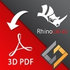 SimLab 3D PDF exporter for Rhino enables Rhino users to share their 3D models in 3D PDF format. The plugin is supported on Rhino 4, 5, and 6.