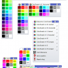 A pack of toolbars that helps you assign predefined colors to your objects with one left click, and select the objects with that color on right click.