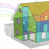 A definition that creates an envelope for thermal calculation from a building mesh